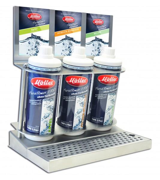 3er-Flaschen-Rack